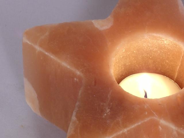 ヒマラヤ岩塩キャンドルホルダー星形